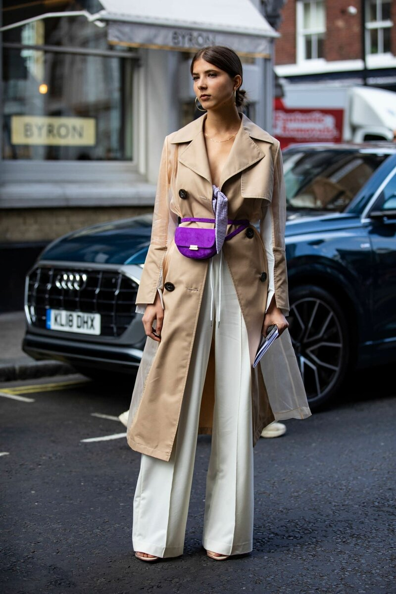 А вы бы осмелились носить фиолетовую сумку? /Фото: i.pinimg.com
