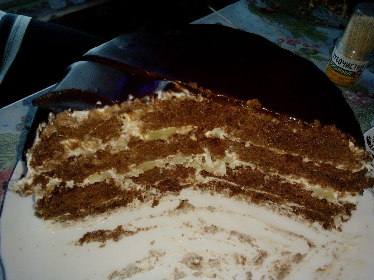 Рецепт вкусного домашнего тортика, за 300 руб - большой и нежный торт!
