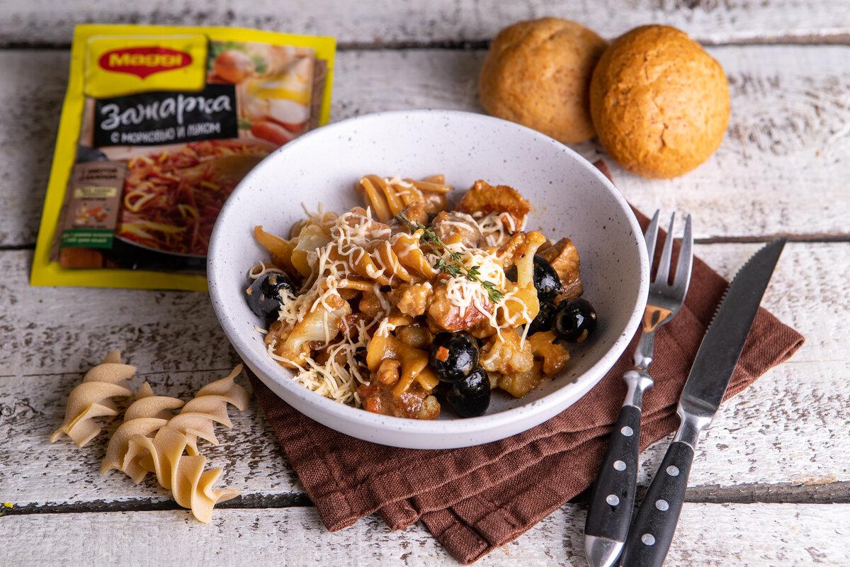Рагу по-итальянски из свинины с макаронами