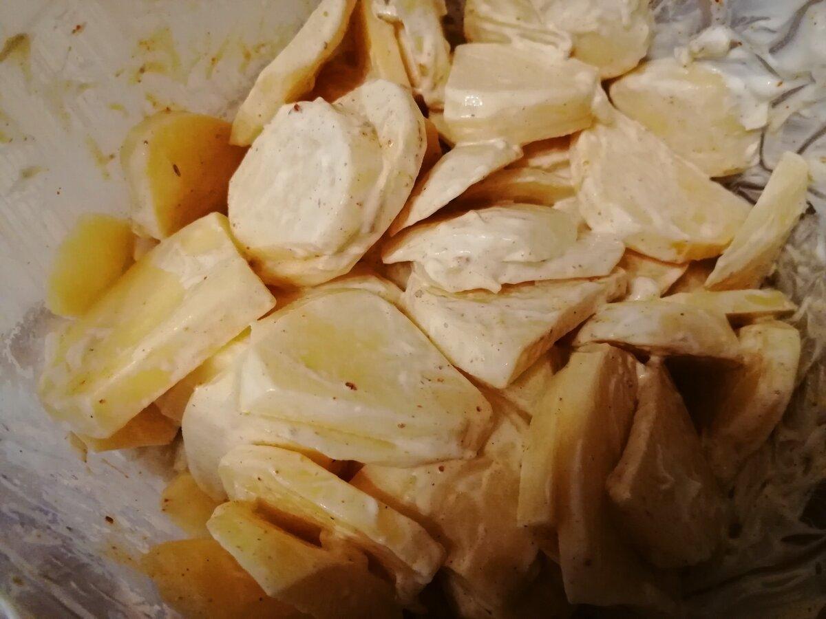 Курица с картофелем в духовке слоями. Мой рецепт обеда