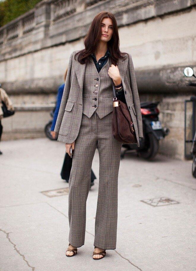 Самые смелые женщины могут надеть жилет на голое тело. /Фото: fashionapp.ru