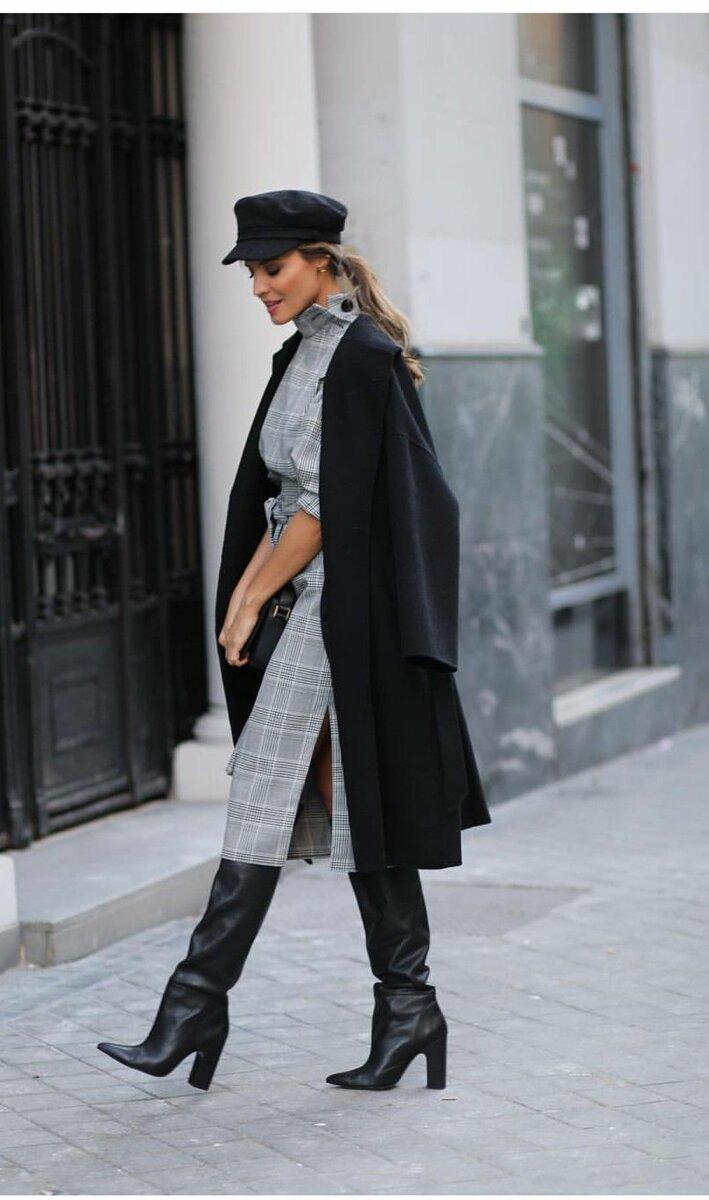 Стиль гарсон в платьях может выражаться в строгих принтах или отсутствии акцента на талию. /Фото: i.pinimg.com
