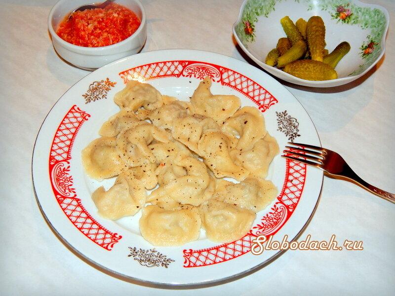 Пельмени: мясо с фасолью