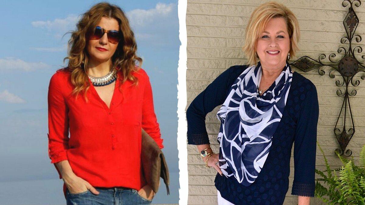 Стильные блузки для взрослых женщин.