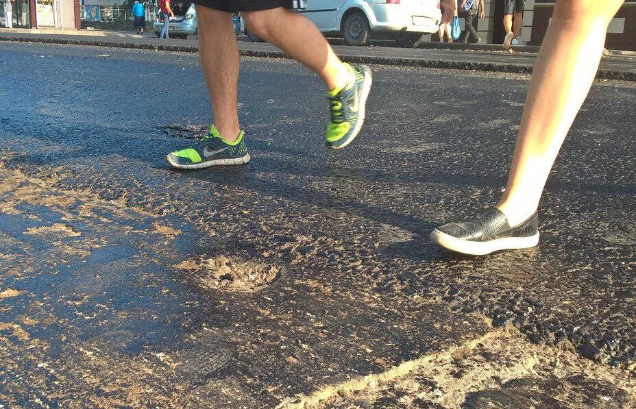 Как отмыть обувь от битума? /Фото: privet-rostov.ru