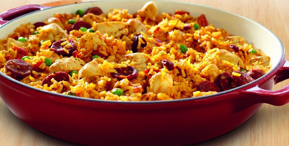 Необычное испанское блюдо из простого риса : Паэлья с курицей. Удивить получится всех домашних