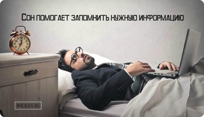 Сон помогает запомнить нужную информацию