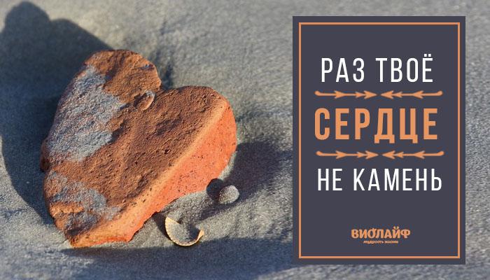 Раз твоё сердце не камень…